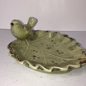 Other - Bird and leaf dish.